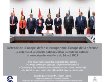 Défense de l'Europe, défense européenne, Europe de la défense : Les cahiers de la revue de défense nationale