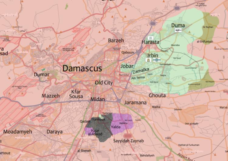 Poursuite de l'offensive du régime syrien dans la Ghouta orientale